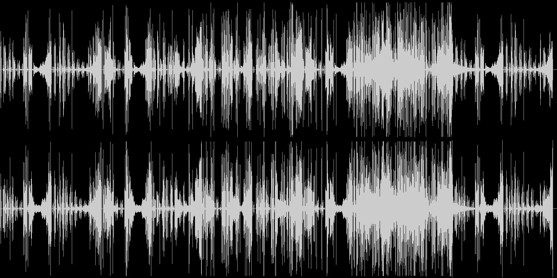変則ビートのシンセサイザー音の未再生の波形
