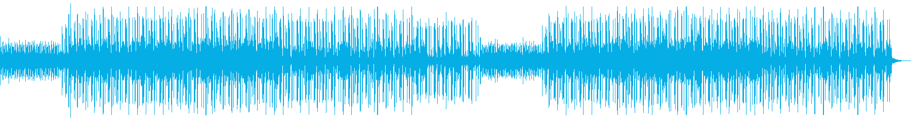 少しダークで疾走感のあるテクノの再生済みの波形