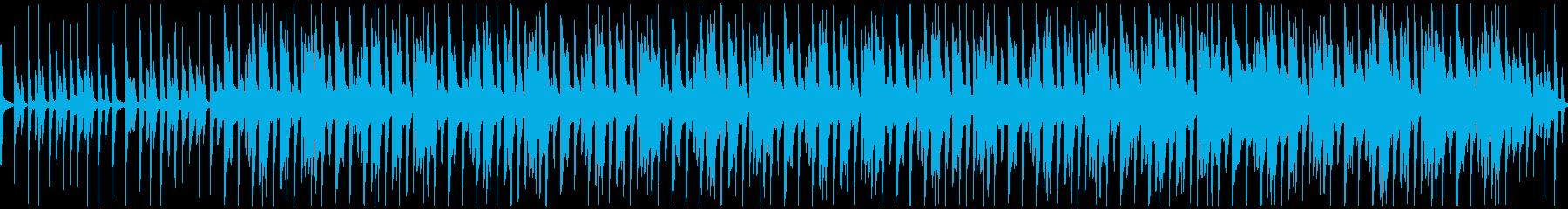 怪しい雰囲気のループトラックBGMの再生済みの波形