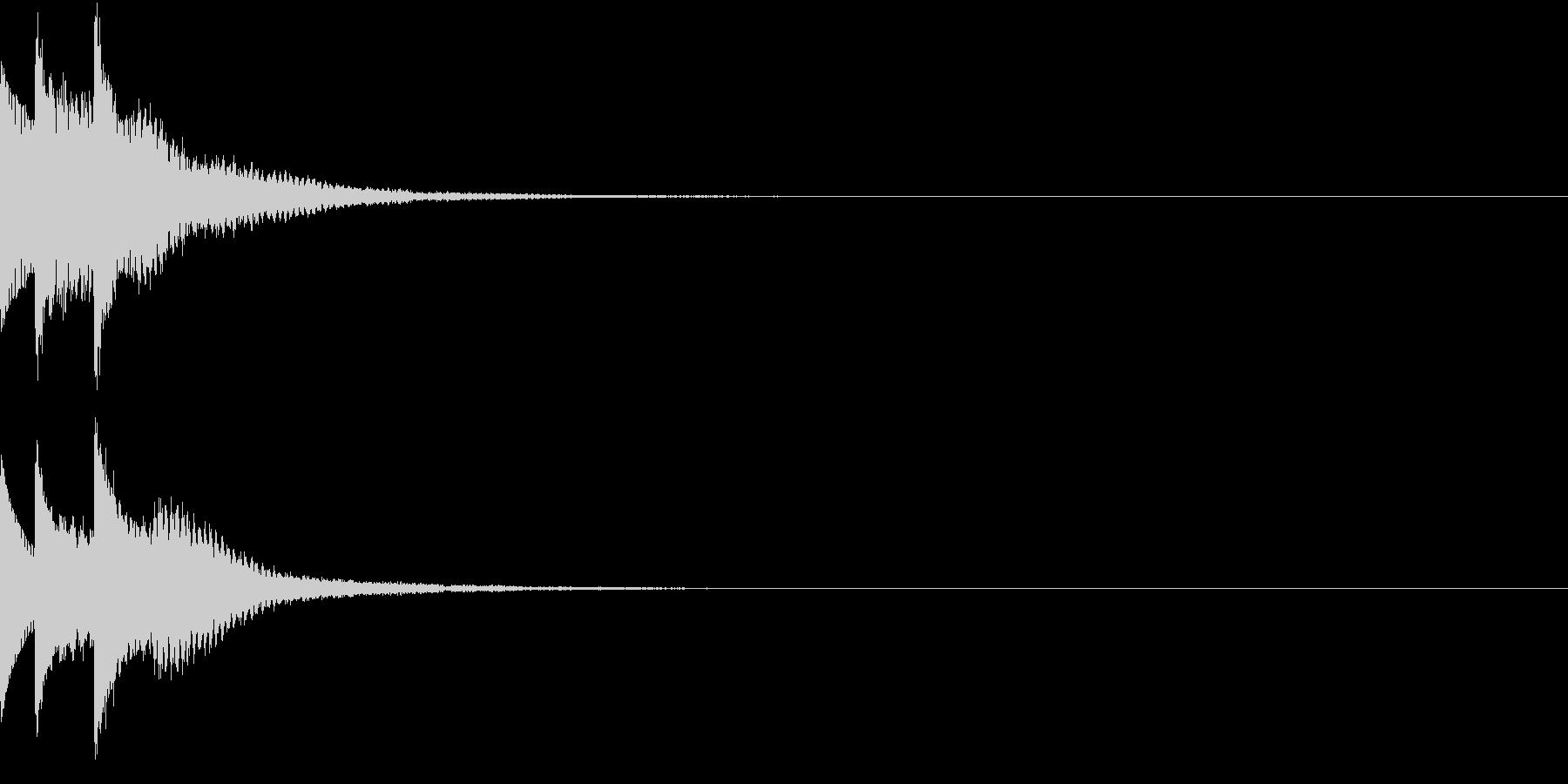 クリック 表示音 キラリン ピロリンの未再生の波形