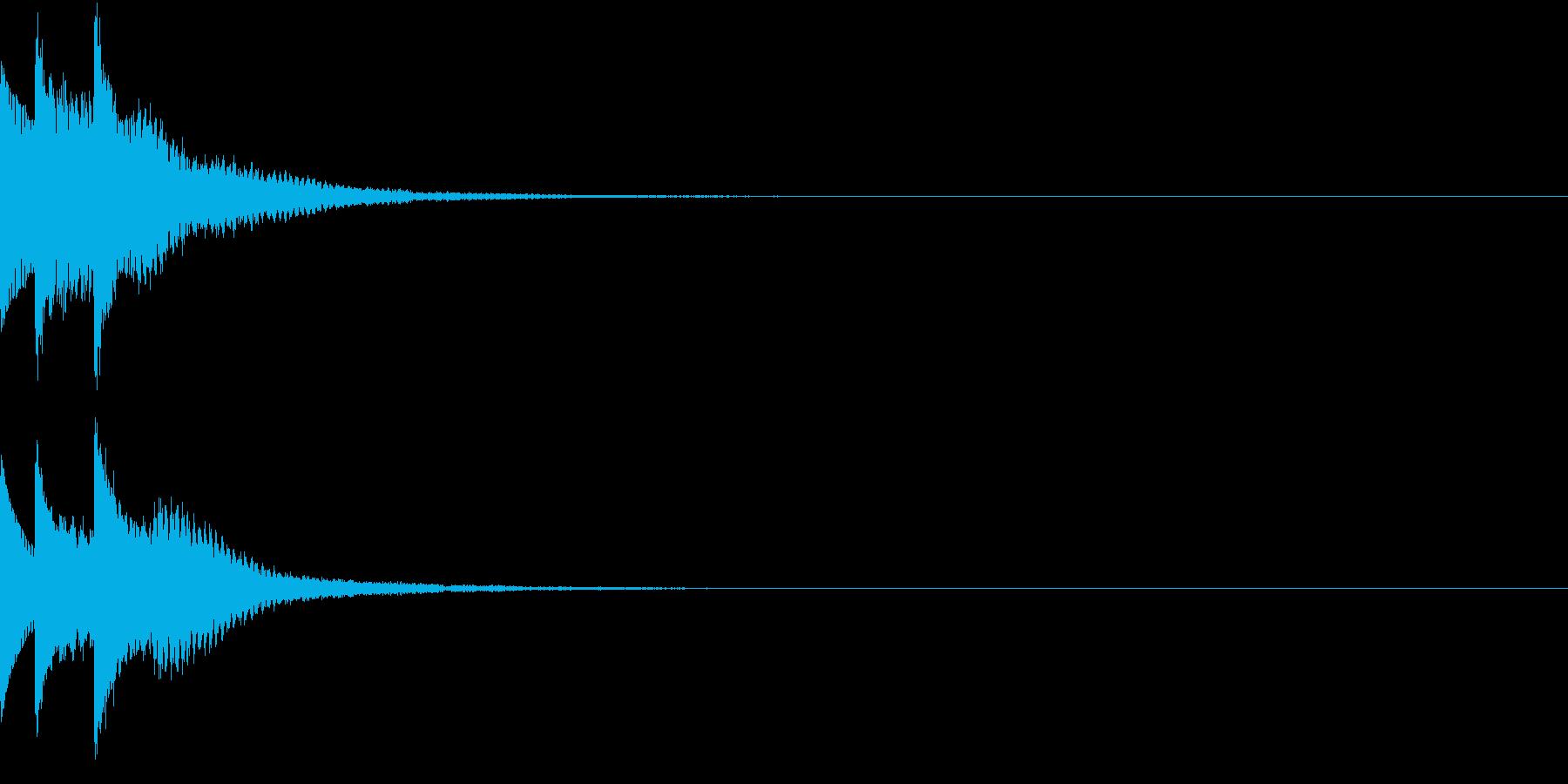 クリック 表示音 キラリン ピロリンの再生済みの波形