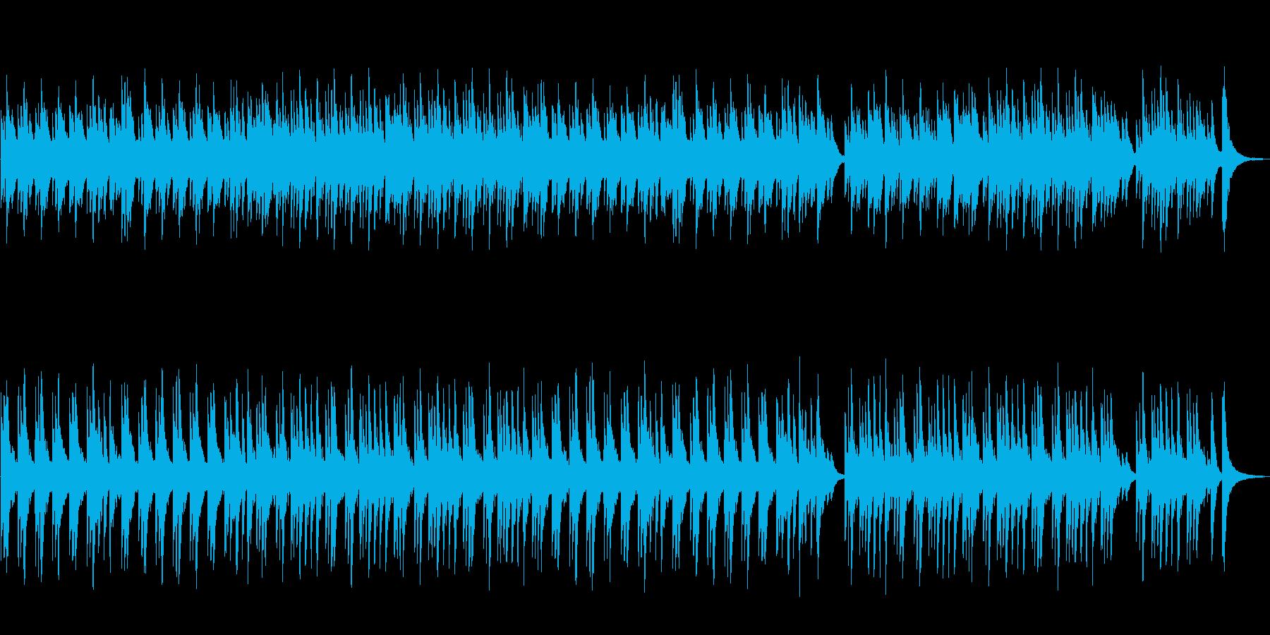 南欧の海辺をイメージしたお洒落で静かな曲の再生済みの波形