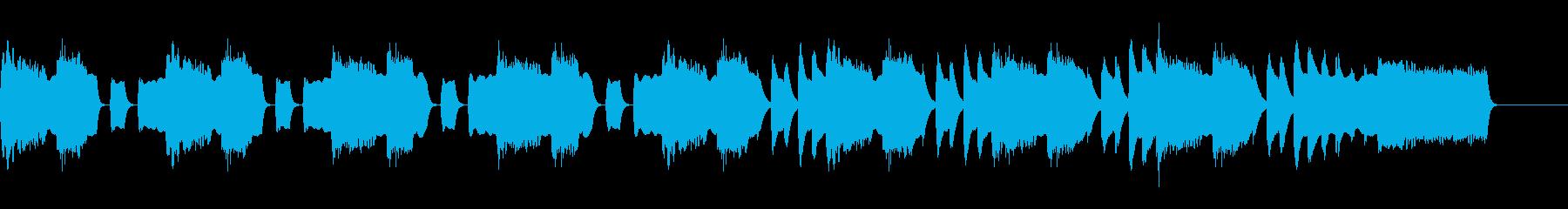 アコーディオンとマリンバの不思議な曲の再生済みの波形