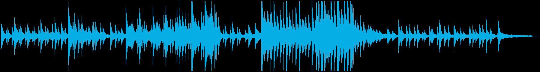しんみりとしたピアノソロ曲の再生済みの波形