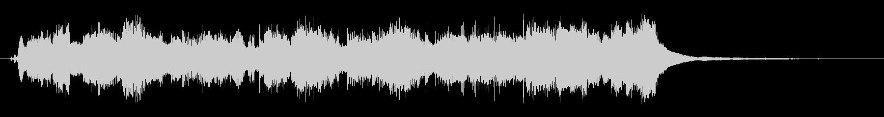 アコーディオンの可愛い10秒のジングルの未再生の波形