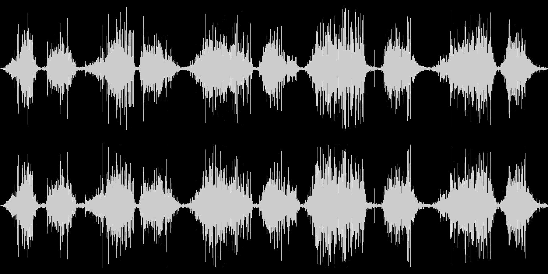 ベルベット:短いのこぎり傷の未再生の波形