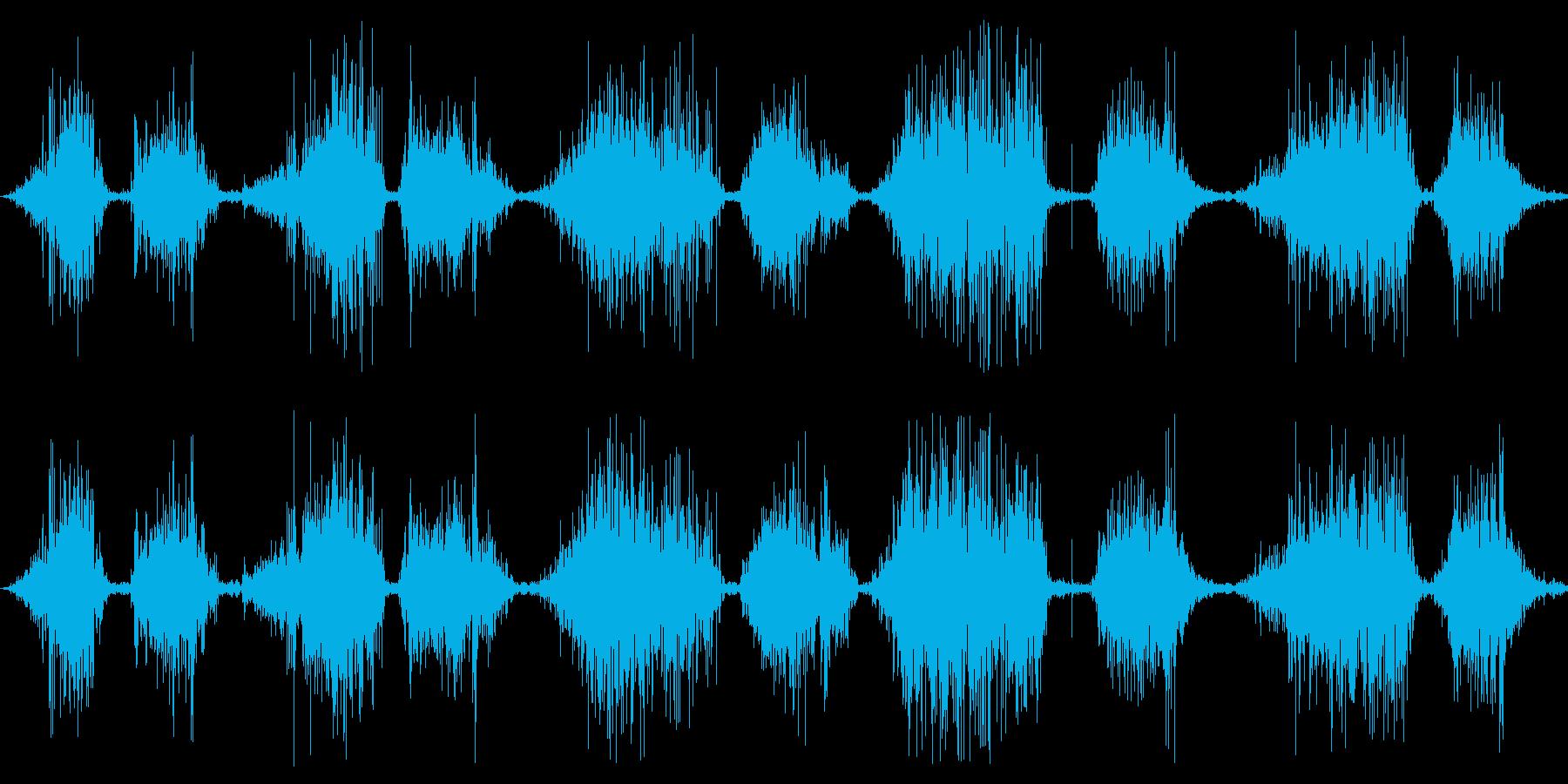 ベルベット:短いのこぎり傷の再生済みの波形