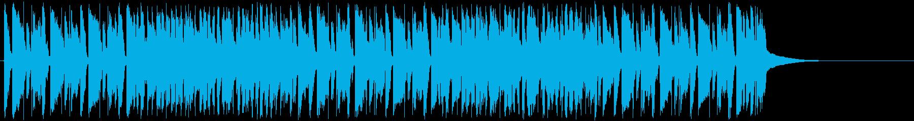 トランペットが印象的な明るいジャズの曲の再生済みの波形