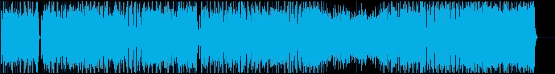 パワフルでノリノリになるメロディーの再生済みの波形