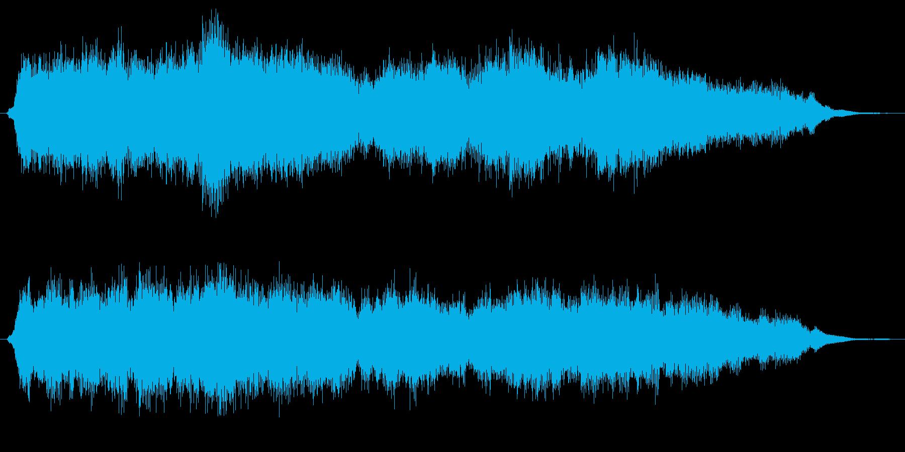 クリスマスの静かなオーケストラジングルの再生済みの波形
