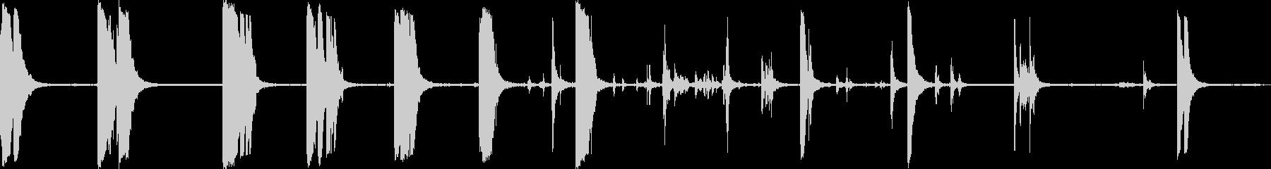メタルドロップ大型クレセントレンチの未再生の波形