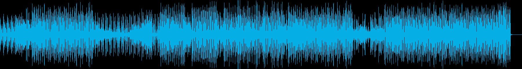 レトロでコミカルなダンストラックの再生済みの波形