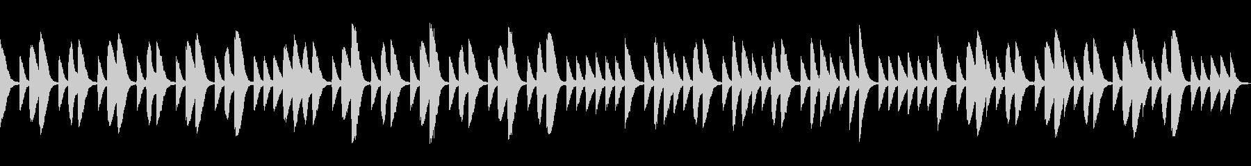可愛いマリンバとコンガのシンプルな曲ですの未再生の波形