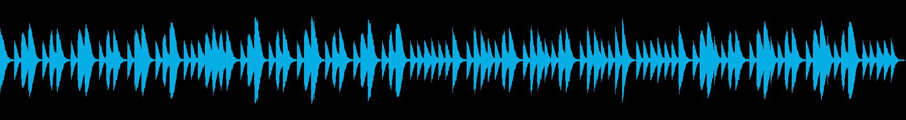 可愛いマリンバとコンガのシンプルな曲ですの再生済みの波形