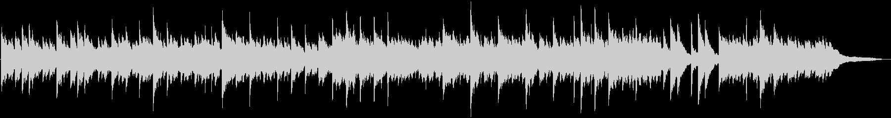 眠たくなるようなテンポのピアノ曲の未再生の波形