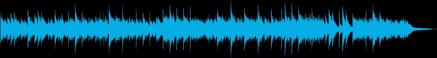 眠たくなるようなテンポのピアノ曲の再生済みの波形