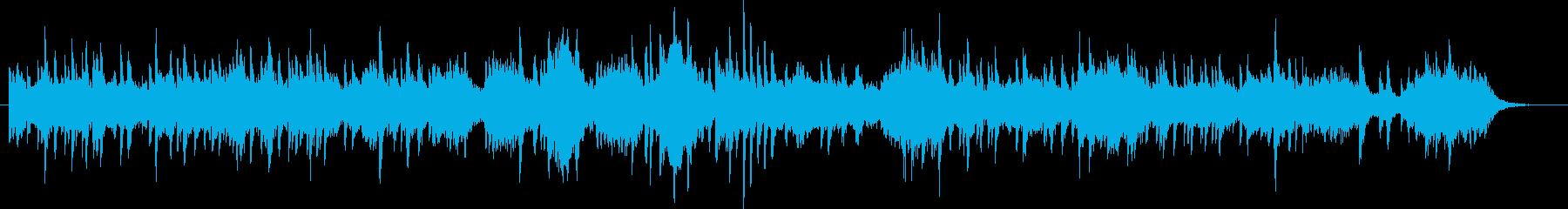 ピアノソロとSEの切ない曲の再生済みの波形