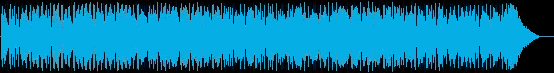 軽快でほのぼのしたテクノポップの曲の再生済みの波形