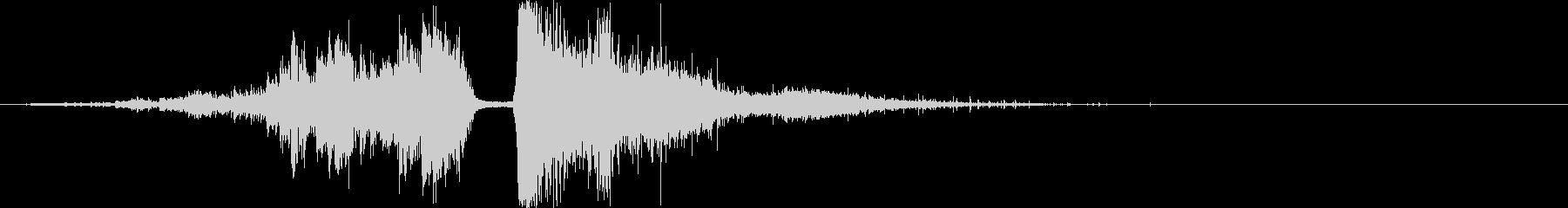 水魔法の音1(巨大な水の球をぶつける)の未再生の波形