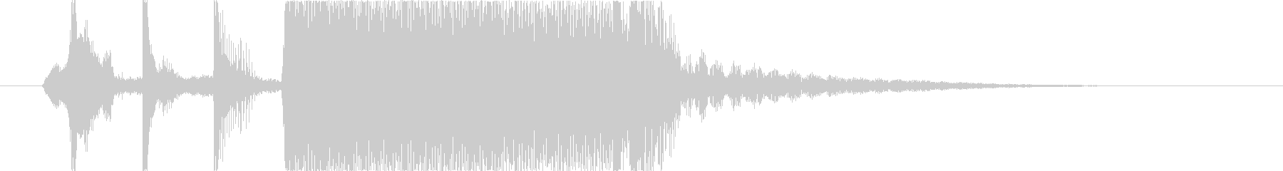 ロックカウントダウン1・2・3TypeCの未再生の波形