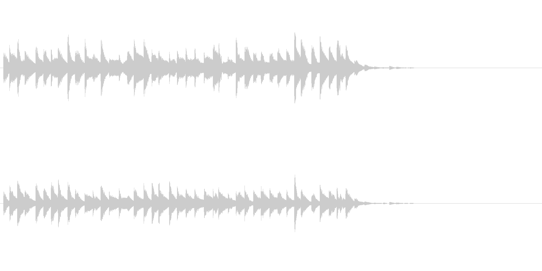 和製ベルの鈴(れい)の清らかな音の未再生の波形