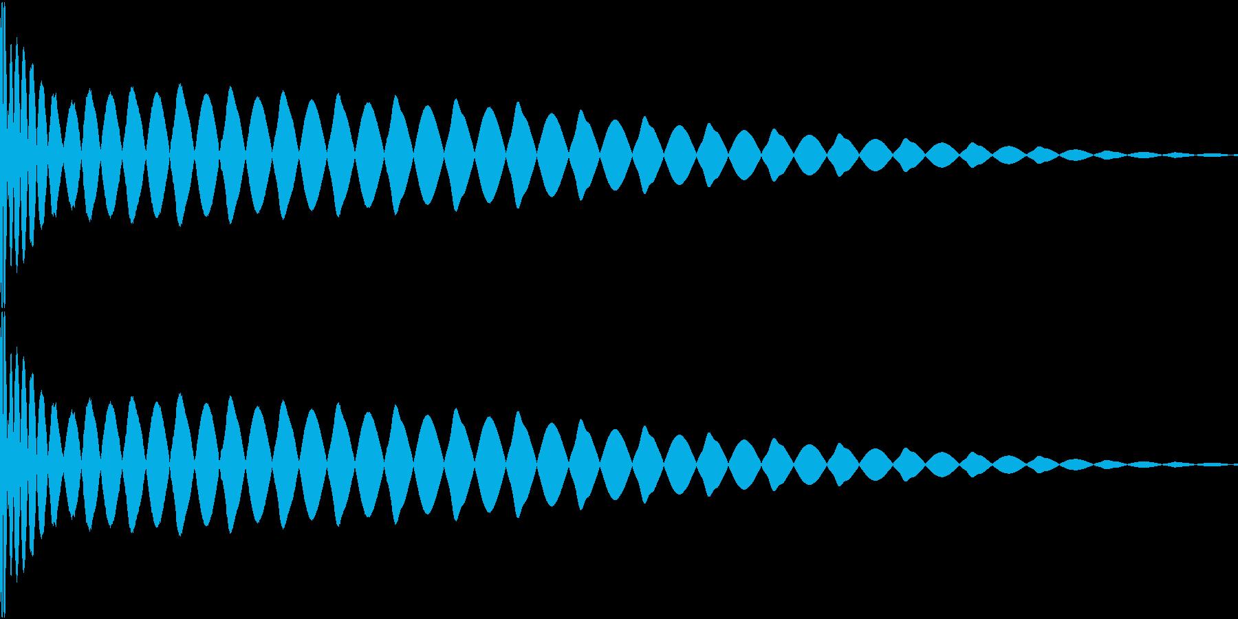 DTM Kick 91 オリジナル音源の再生済みの波形