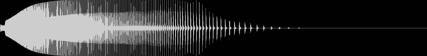 映画風のインパクト・衝撃音「ドーン」の未再生の波形