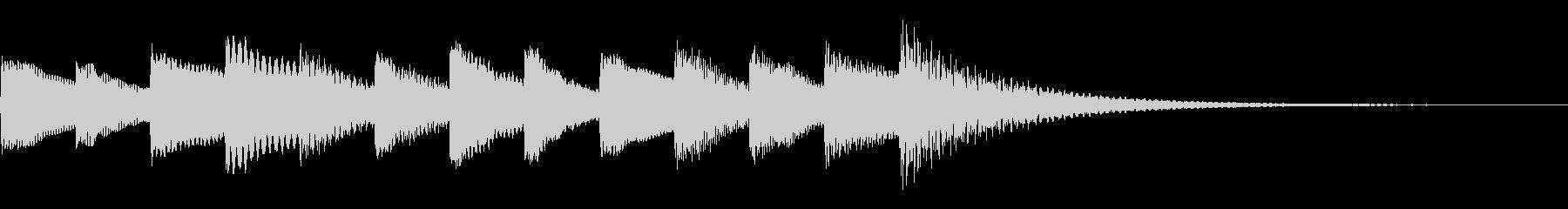 動画のエンディングに適したオルゴール音源の未再生の波形