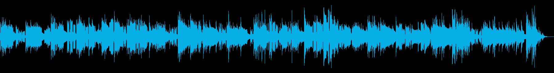 リコーダー 夜空 想いにふける素朴な曲の再生済みの波形