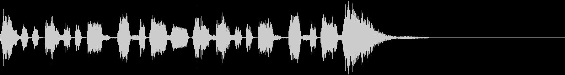 動画の繋ぎやオチの部分を想定した効果音の未再生の波形
