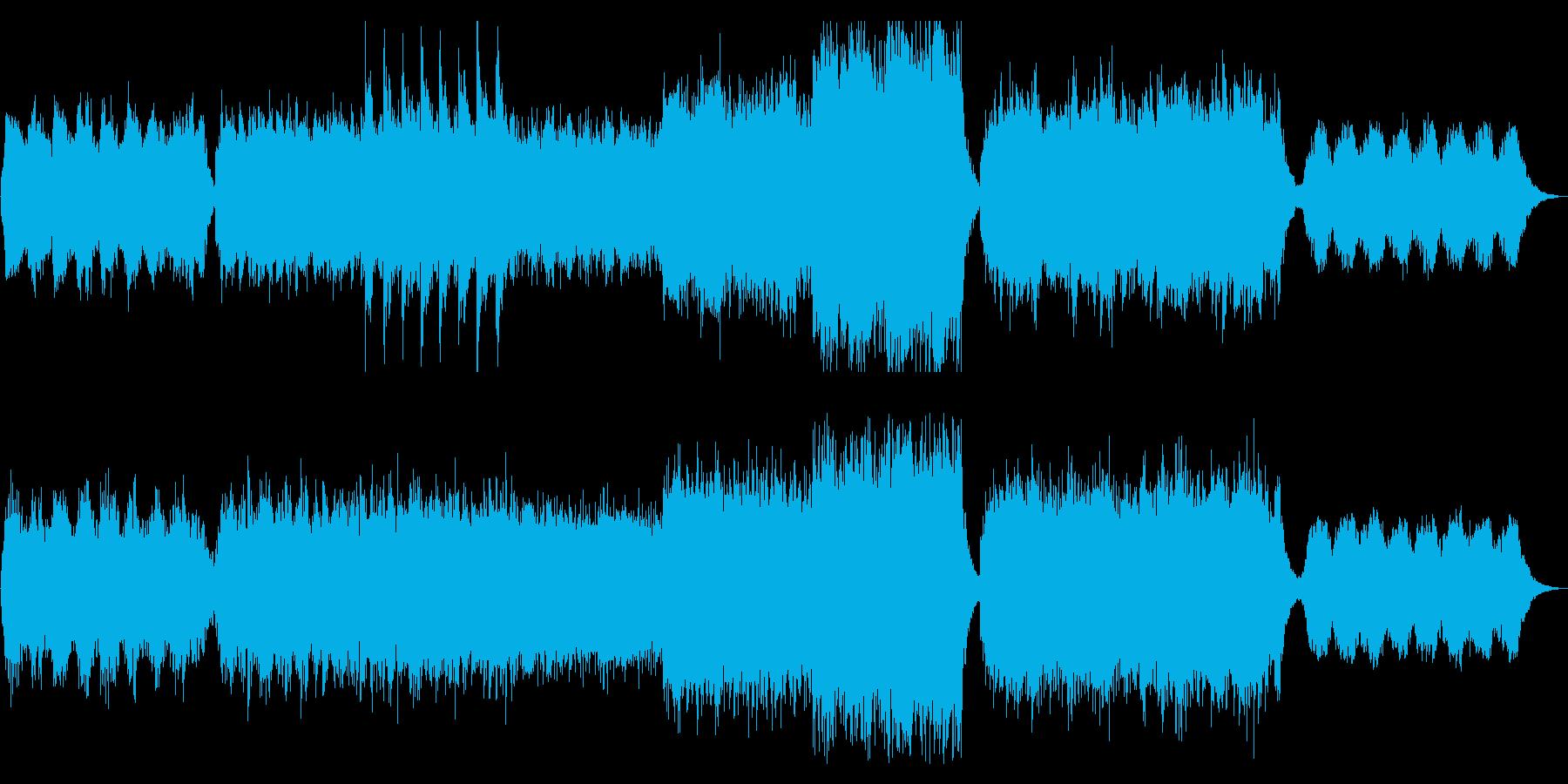 『予兆』不安と期待が入り混じるシリアス曲の再生済みの波形