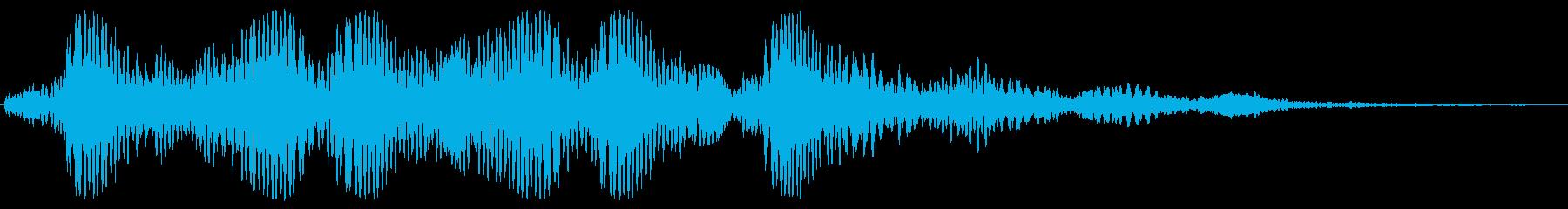 ホワ〜、フォンッ、っという笛のような音の再生済みの波形