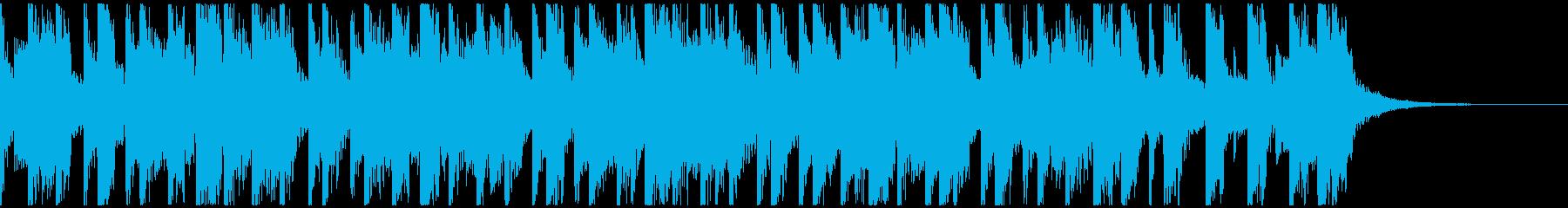 絶妙なダサさの80年代風ジングルの再生済みの波形