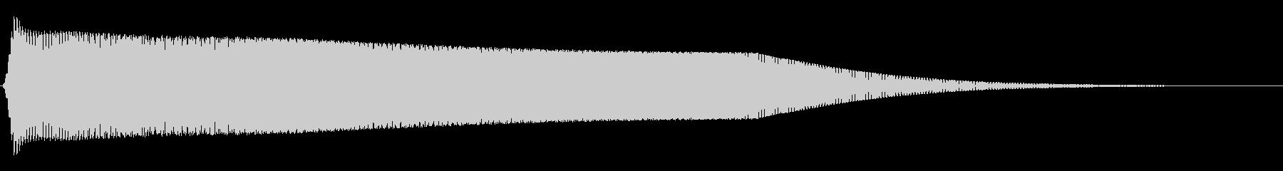 レトロゲーム風サウンドロゴ(ギューン)の未再生の波形