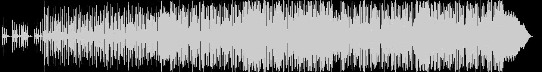 弾むような金属的な音の連続の未再生の波形