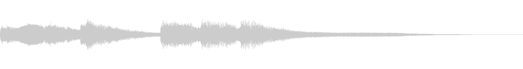 お洒落なサウンドロゴ/ジャズ/ピアノソロの未再生の波形