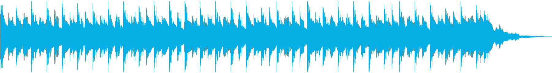Bright electronic jingle, corporate VP's reproduced waveform
