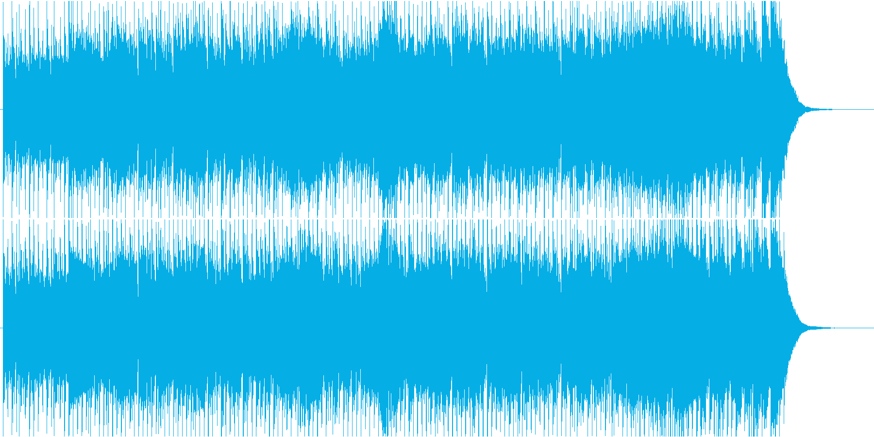 (攻撃的に)疾走する悲しみのEDMです。の再生済みの波形