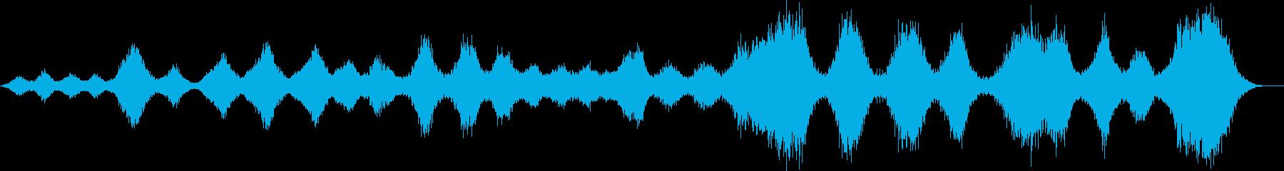 不気味な風の音のホラーアンビエントの再生済みの波形