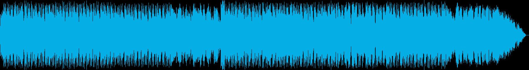 力強い竹笛の民族系ニューエイジ音楽の再生済みの波形