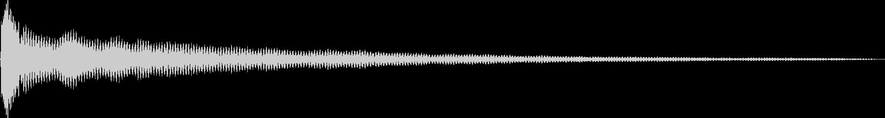 キィーン。ドキッ・ギクッとする音Fの未再生の波形