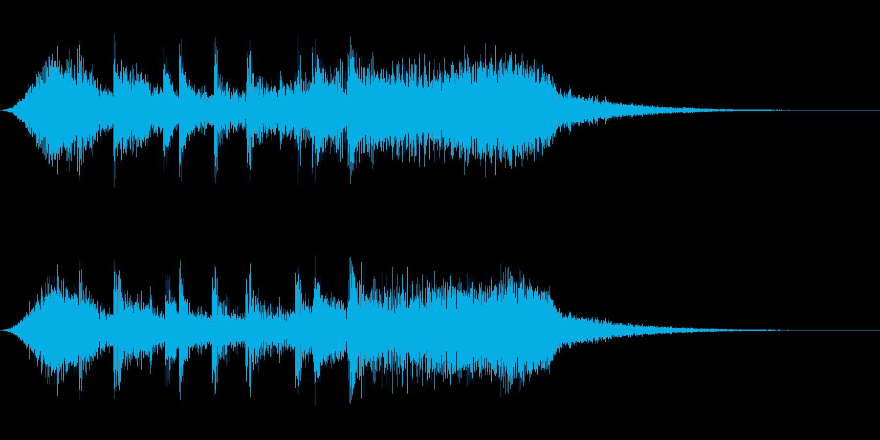 発表ロゴの再生済みの波形