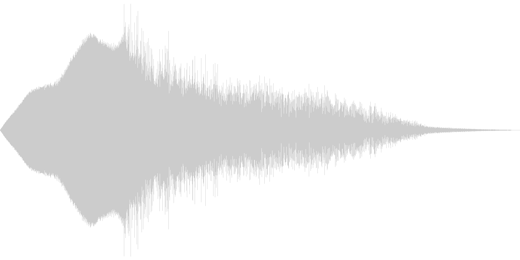 ウィィィンピシャーンの未再生の波形