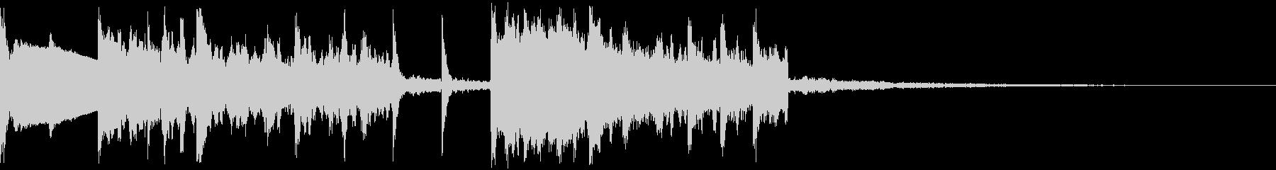キャッチーなトラップジングル10の未再生の波形