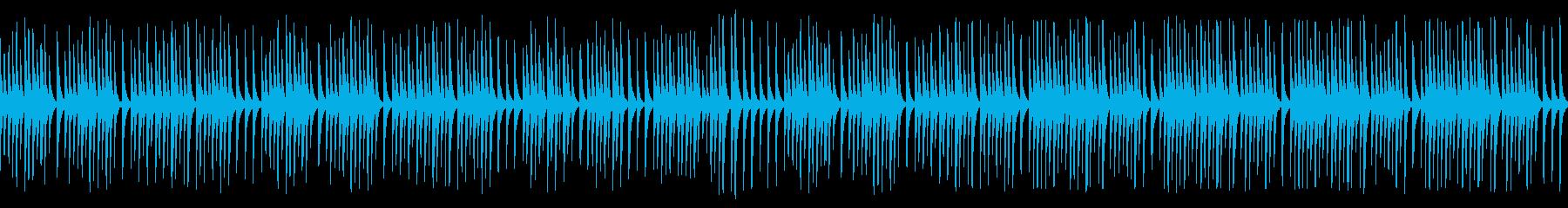 可愛い動物や作業動画に合う木琴(ループの再生済みの波形