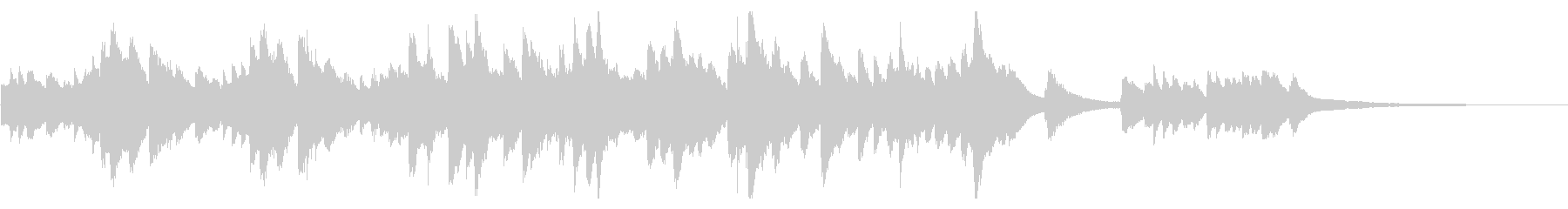 優しい波の中、包まれるようなピアノ曲の未再生の波形