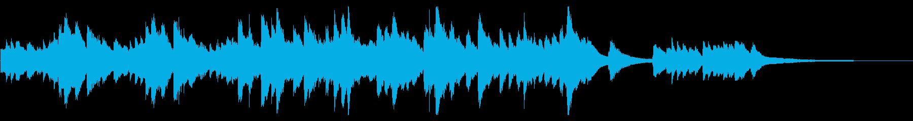 優しい波の中、包まれるようなピアノ曲の再生済みの波形