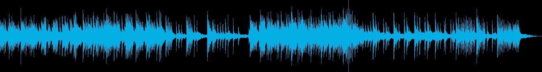 川の流れのように淡々としたピアノのBGMの再生済みの波形