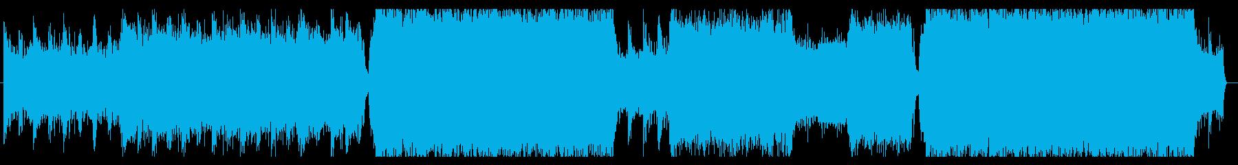 映画予告の様な壮大なオーケストラロックの再生済みの波形