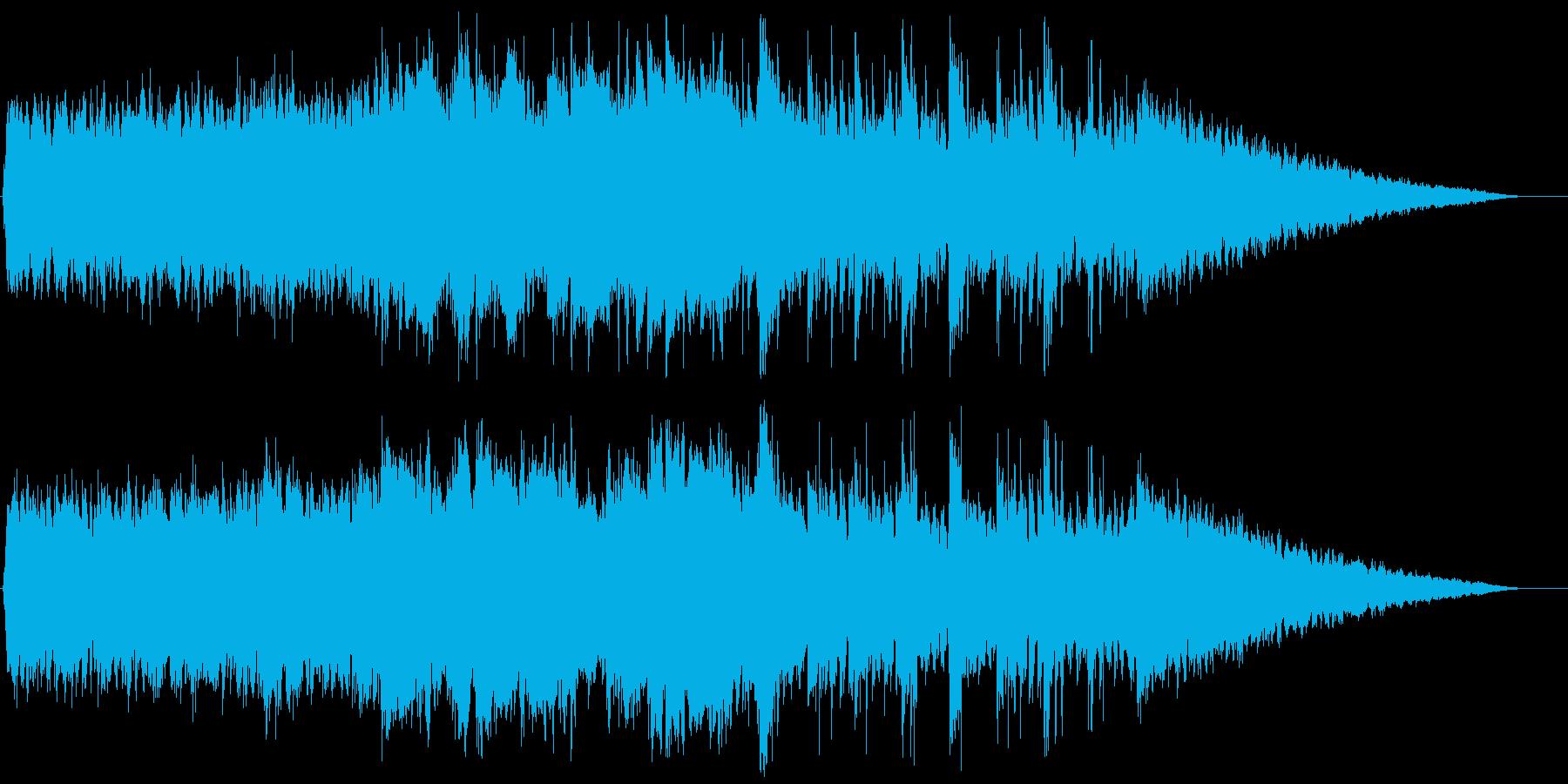クールで広がりのあるBGMの再生済みの波形